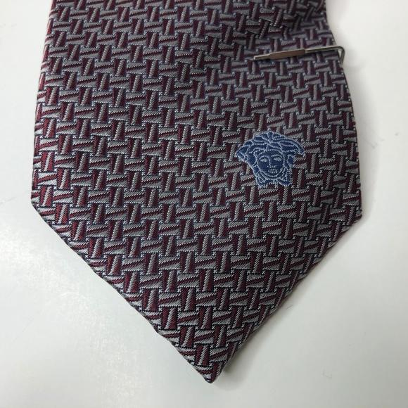 Gianni Versace Mens Neck Tie Geo Printed Design Boutique